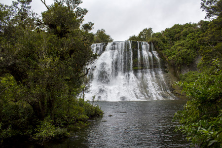 Waterfall and stream in New Zealand Banco de Imagens