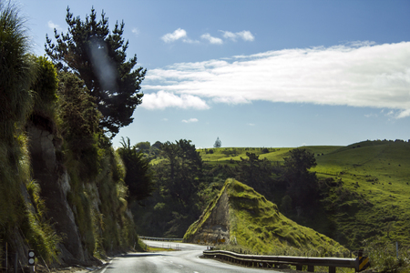 Stunning rolling green hills landscape