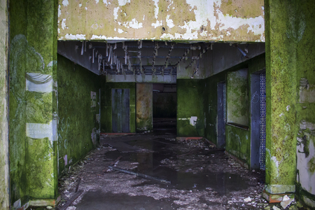 Abandoned hotel interior Banco de Imagens