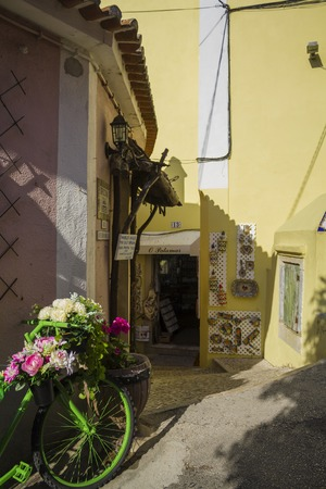 Sintra, Portugal - Circa, September 2018: Decorated street in the beautiful village of Sintra Stock Photo