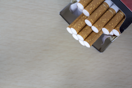 cigarettes in pack Stock Photo