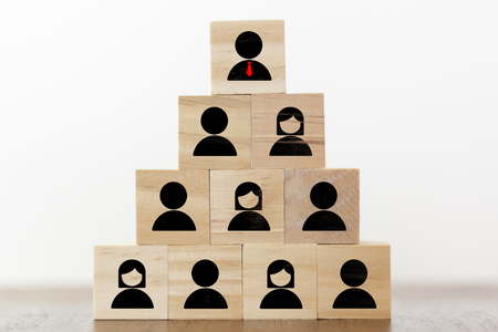 Human resources, business corporation and leadership concept