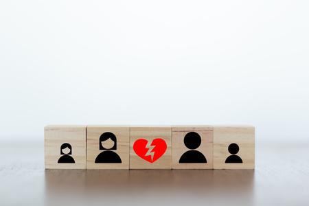 Broken family and divorce concept Stock Photo