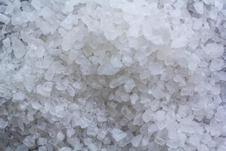 Coarse salt background. Top view Reklamní fotografie