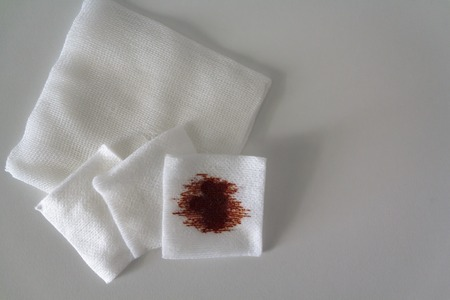 Medical gauze pads with antiseptic