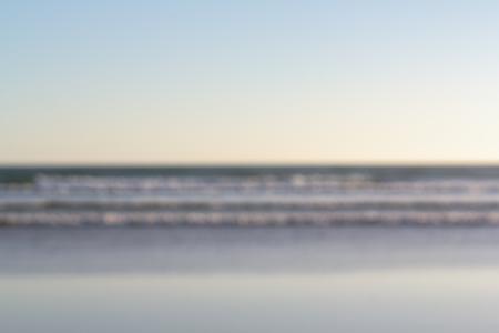 Beach sea blurred for background use. Bokeh shot