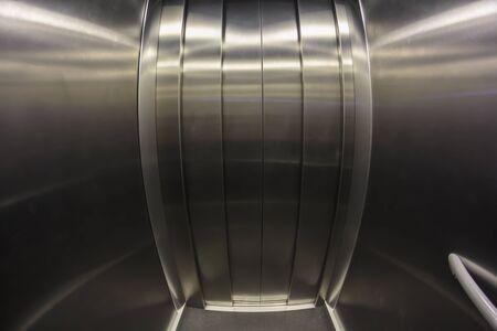 Elevator door. Fish eye effect Stock fotó