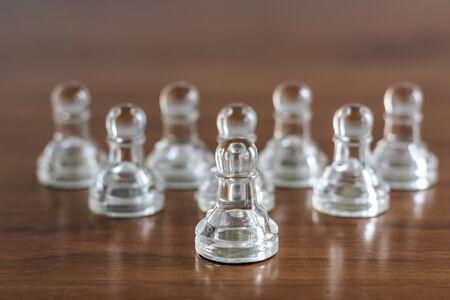 Chess pieces. Business leader concept Stok Fotoğraf - 131221757