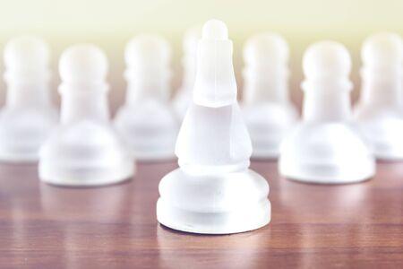 Chess pieces. Business strategy and teamwork concept Stok Fotoğraf - 131221761
