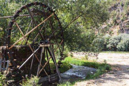 Old Working watermill wheel