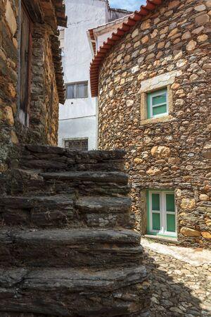Medieval historical schist village - Janeiro de Cima, Portugal Фото со стока