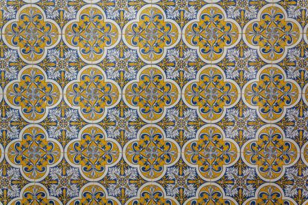 Portuguese tiles background, pattern. Фото со стока