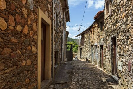 Typical architecture at Janeiro de Cima, a schist village in Portugal