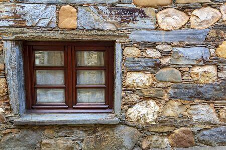 Detail of a schist house Фото со стока