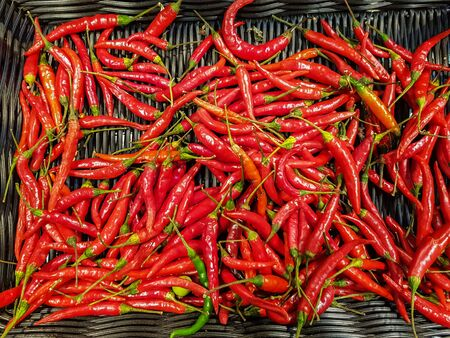 Top view of red chili peper