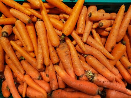 Top view of pile of carrots