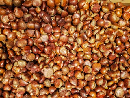 Top view of pile of Chestnuts