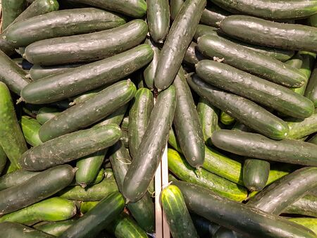 Top view of pile of cucumber