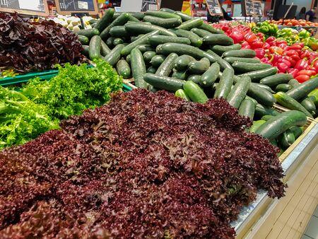 Fresh vegetables for sale on market
