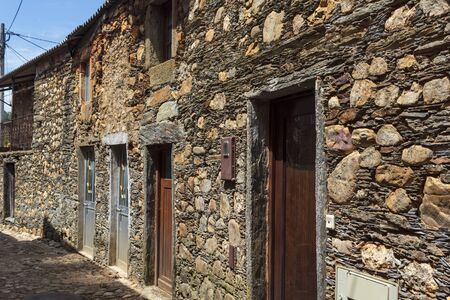 Traditional portuguese schist stone house