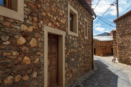 Schist village with typical schist houses in Portugal