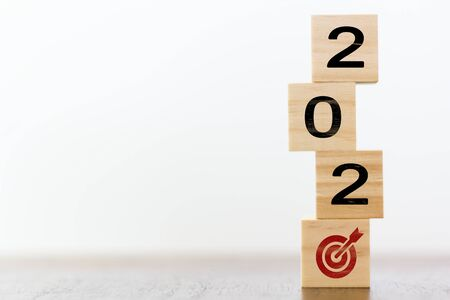 2020 on wooden cubes wit
