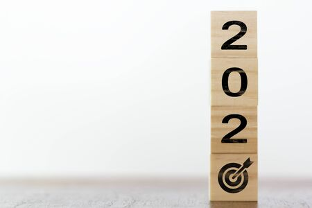 New year 2020 with target symbol. Successful year concept