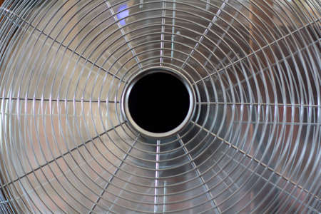 Close up of cooling fan in working mode