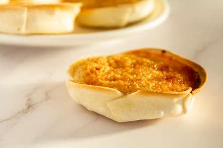 Traditional Portuguese pastry called Queijada de Sintra