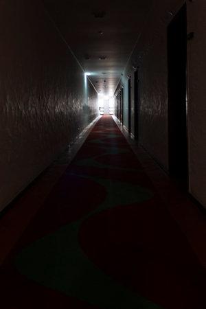 Mysterious hotel corridor Standard-Bild