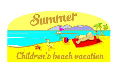 baby toys: summer,  baby toys on the shore