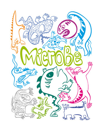 infection: figure germs what are germs, evil, funny, freehand drawing, flu, bacteria, germs, infectious, infection, disease, sickness, infection