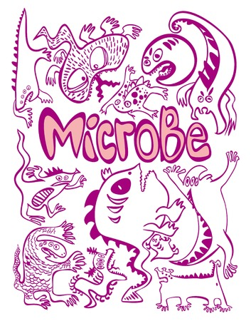 infectious disease: figure germs what are germs, evil, funny, freehand drawing, flu, bacteria, germs, infectious, infection, disease, sickness, infection