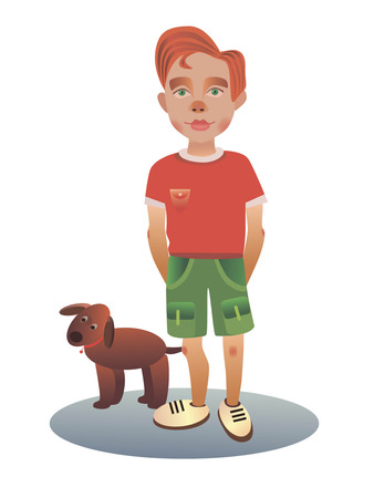 red haired: vector image for the use in printing,web