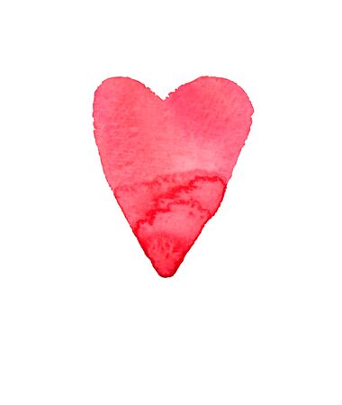 red heart on white background Stock Photo
