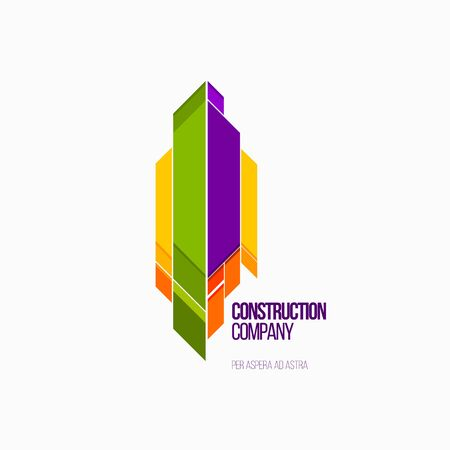 constraction: Modern colorful abstract vector logo or element design. Best for identity and logotypes.