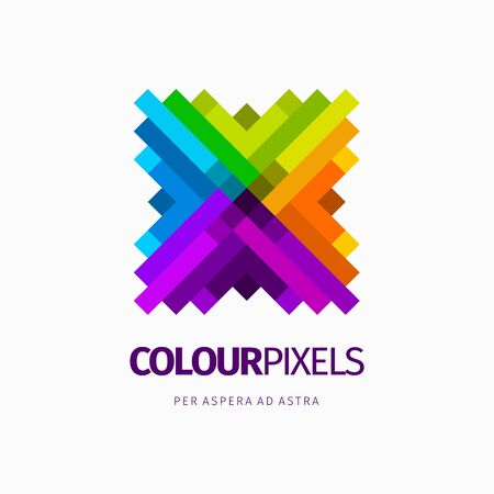 Modern colorful abstract vector logo or element design. Best for identity and logotypes.