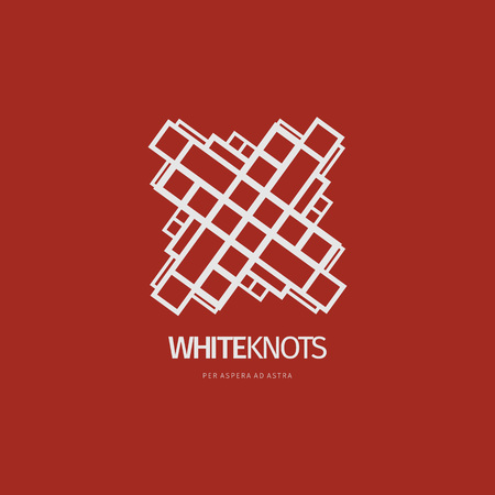 Modern white abstract vector logo or element design. Best for identity and logotypes.