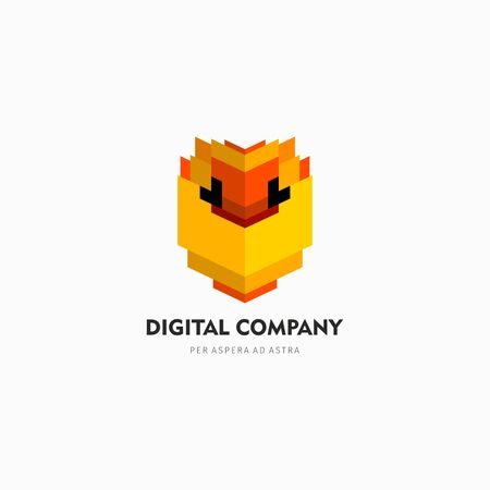 Modern abstract vector logo or element design. Best for identity and logotypes. Simple shape.