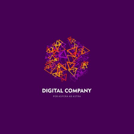 Modern abstract vector or element design best for identity and logotypes simple shape in lavender. Illustration
