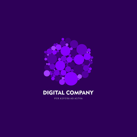 logotypes: Modern abstract vector or element design best for identity and logotypes simple shape in lavender. Illustration