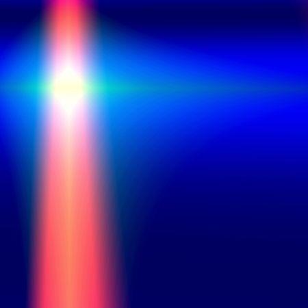 Red fantasy laser beam on blue background Stock Photo - 579818