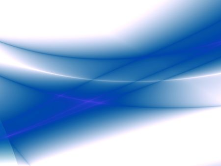 smoky: Abstract blue waves isolated on white Stock Photo