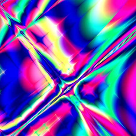Psychedelic multicolor fantasy star Stock Photo - 632697