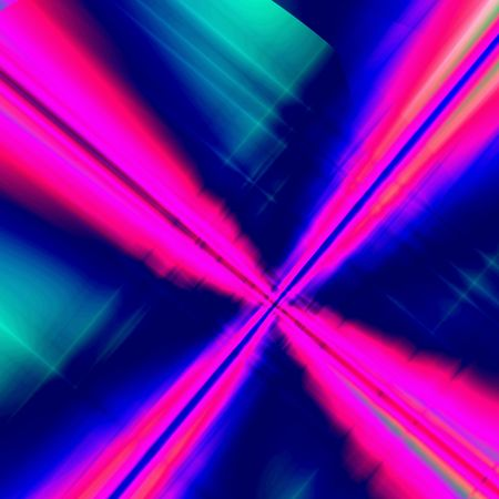hyperspace: Red-blue fantasy hyperspace Stock Photo