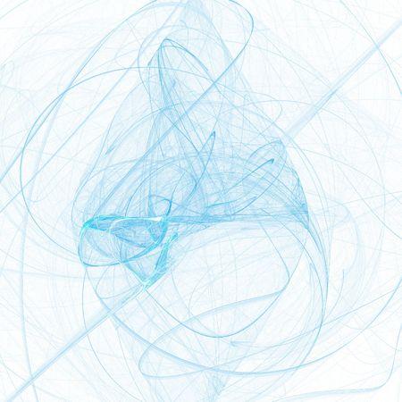 dynamic trend: Blue fantasy smoke on white background