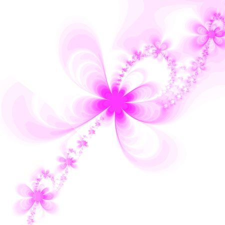 Abstract pink flowers isolated on white background Stock Photo - 919855