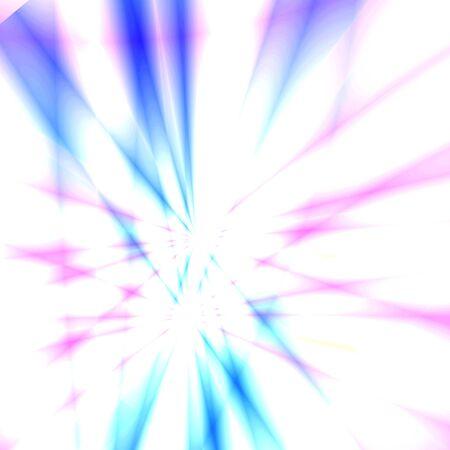 Pink-blue fantasy on white background photo