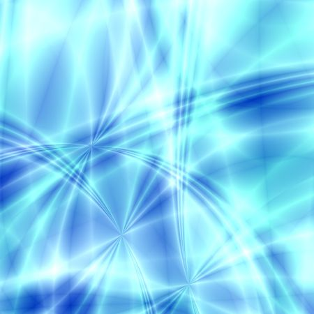 asymmetry: Fantasy stars and  rays on blue background