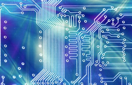 constituent:  High technology - computer electronics (macro) Stock Photo